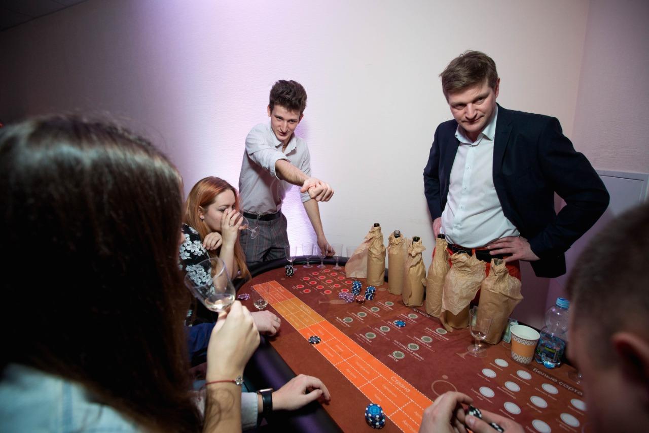 Проведение винного казино на корпоратив