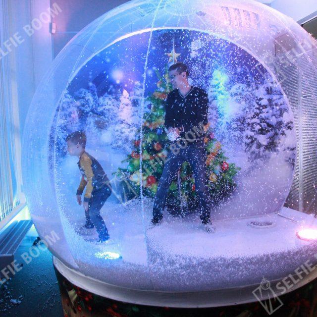 Аренда фотозоны на новогодний корпоратив чудо шар